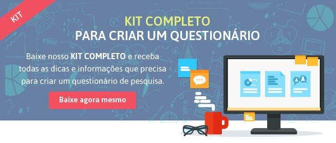 kit questionário de pesquisa de mercado online